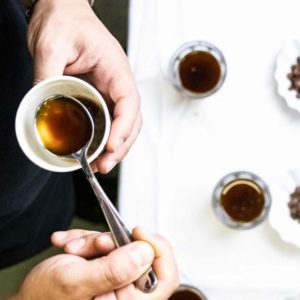 Coffee cupping for finding the right aroma