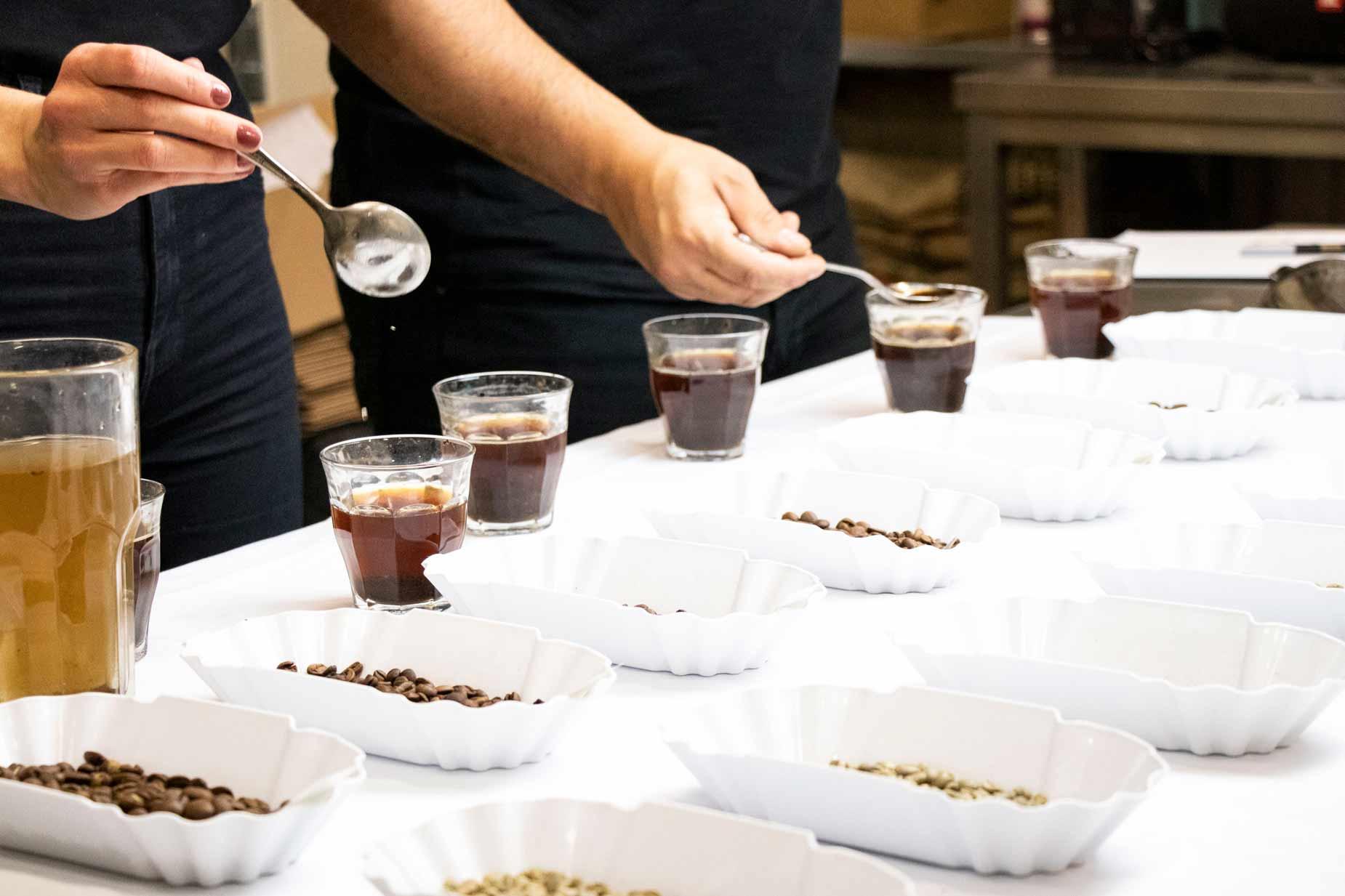 Coffee Tasting in der Rösterei