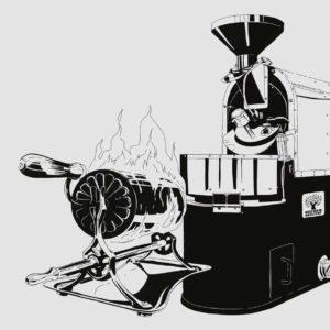 Kaffeeröstmaschine als Karrikatur zur Reeham Geschichte